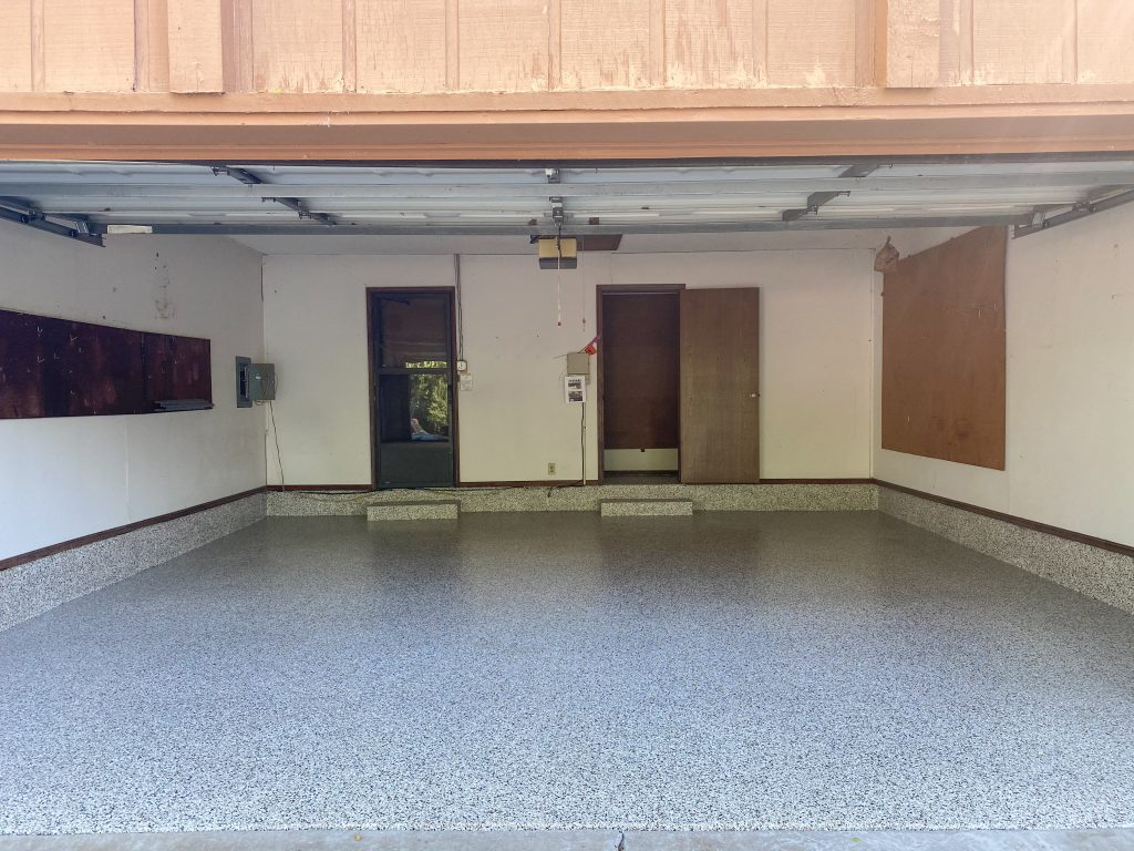 Garage Floor Transformation - Epoxy Flake Floor